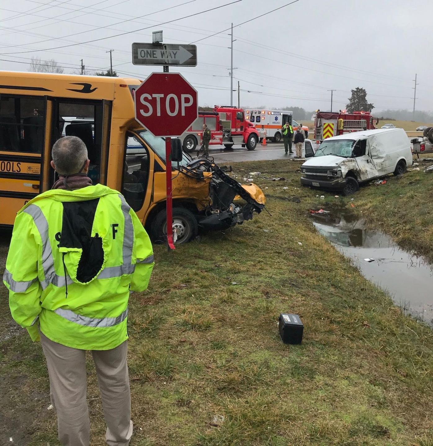 View Of Crash Scene Thursday