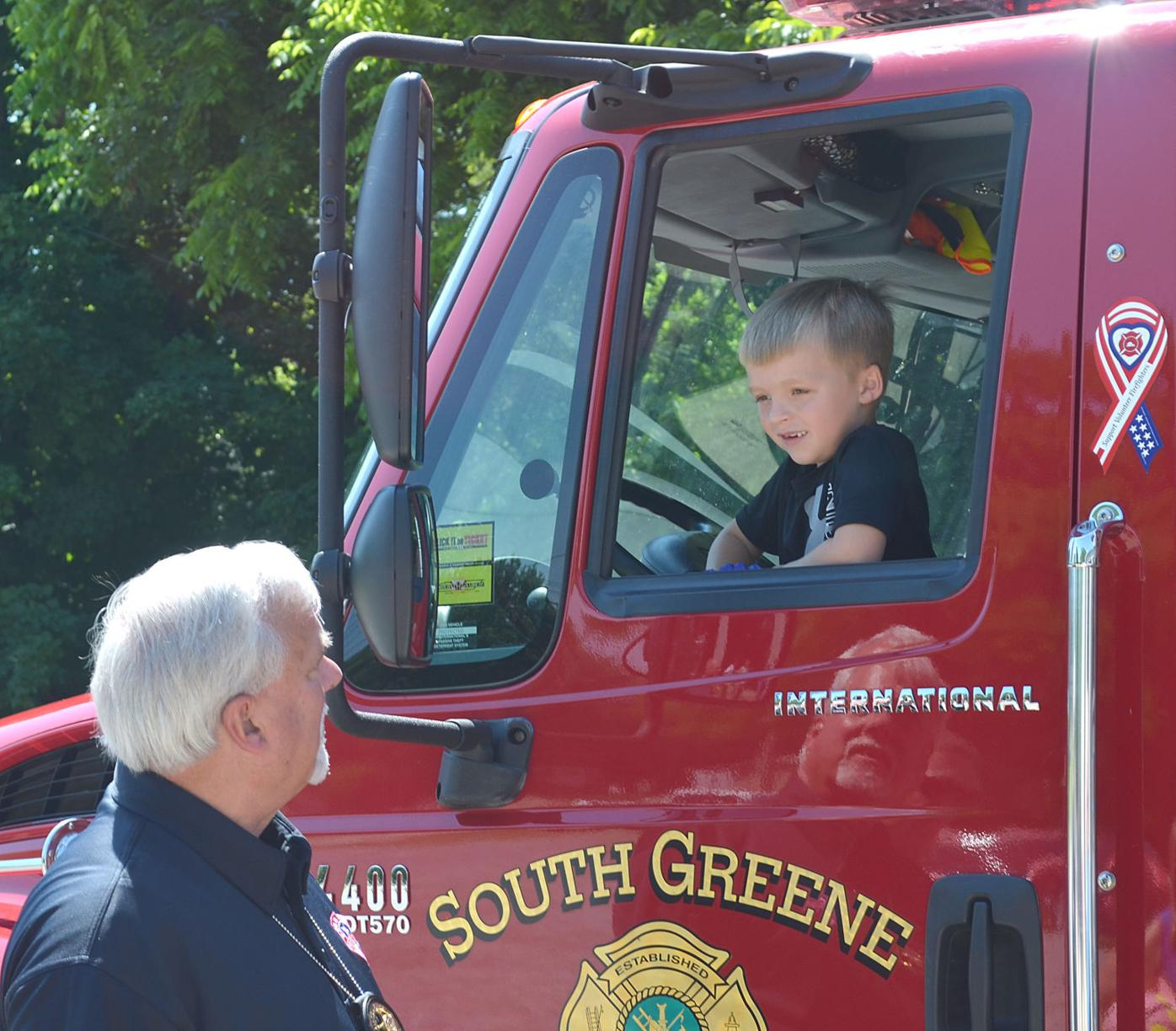 Gary Farley And Firefighter's Son At SGVFD