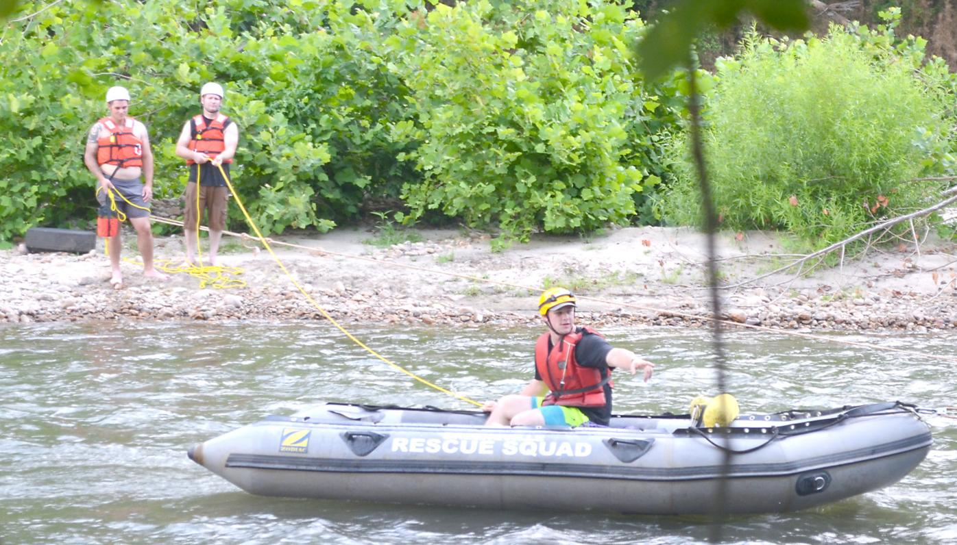 Using Pulley System To Get Boat Across River