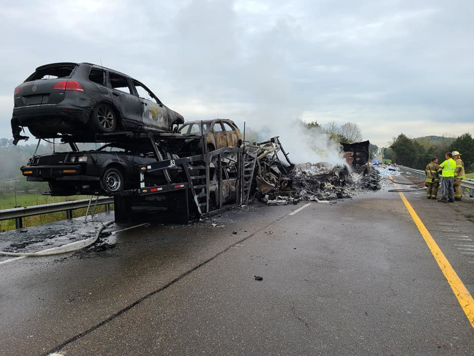 Aftermath Of Crash On I-81 In Hamblen County
