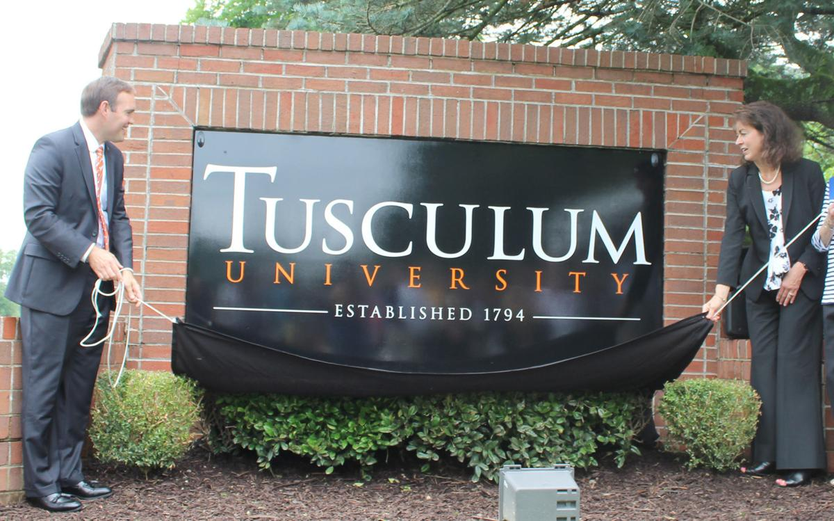 Tusculum University Unveils New Sign (copy)