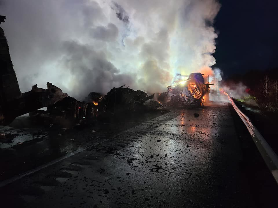 Fiery I-81 Crash Injures Both Drivers, Shuts Down Interstate