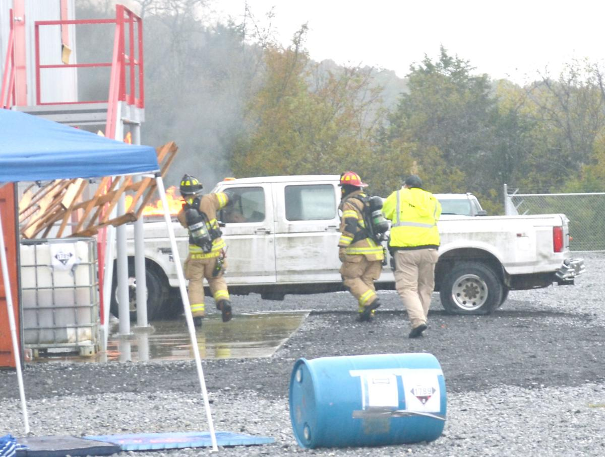 Truck Fire During Training Exercise