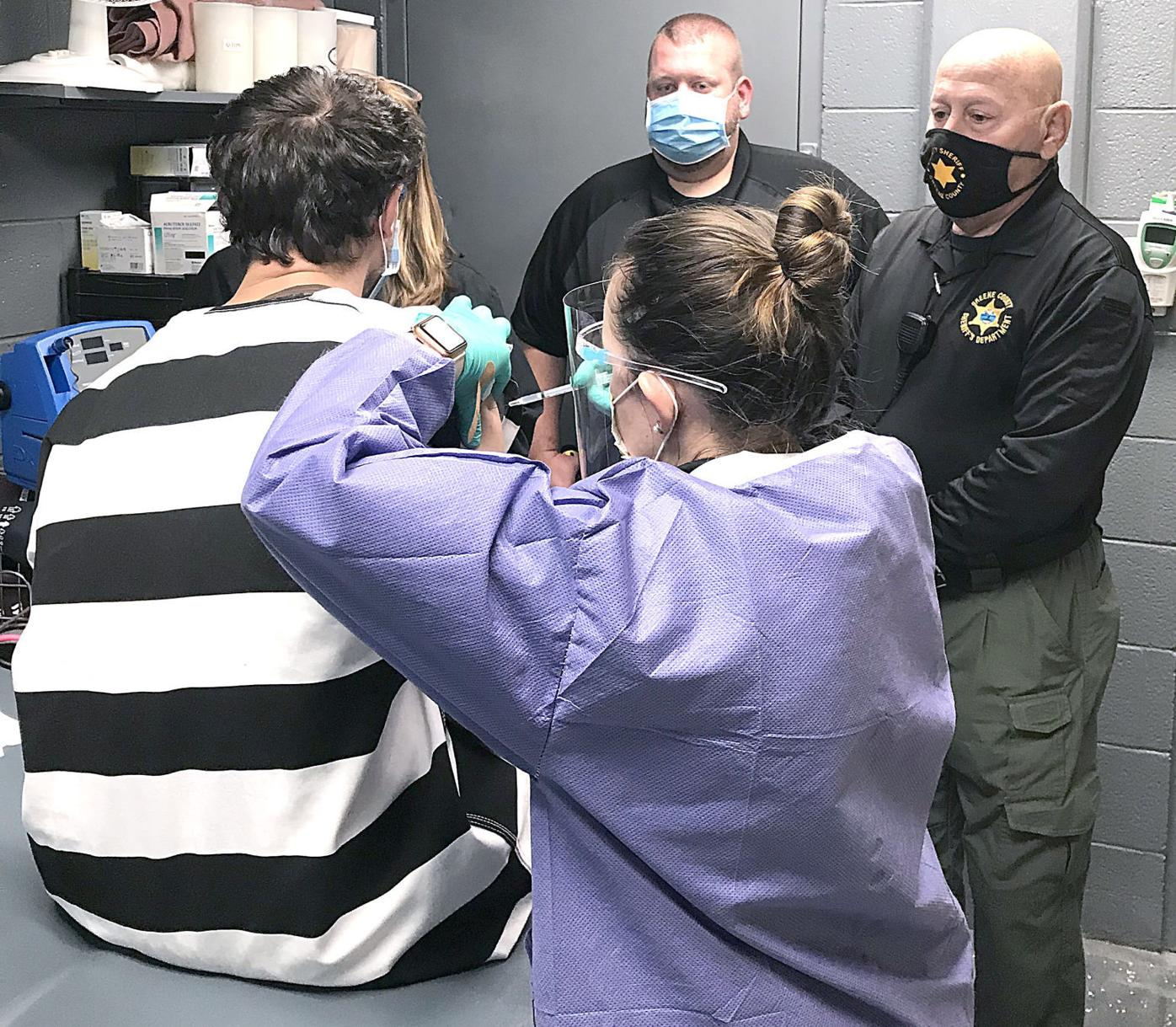Jail Inmate Gets COVID-19 Vaccine Shot