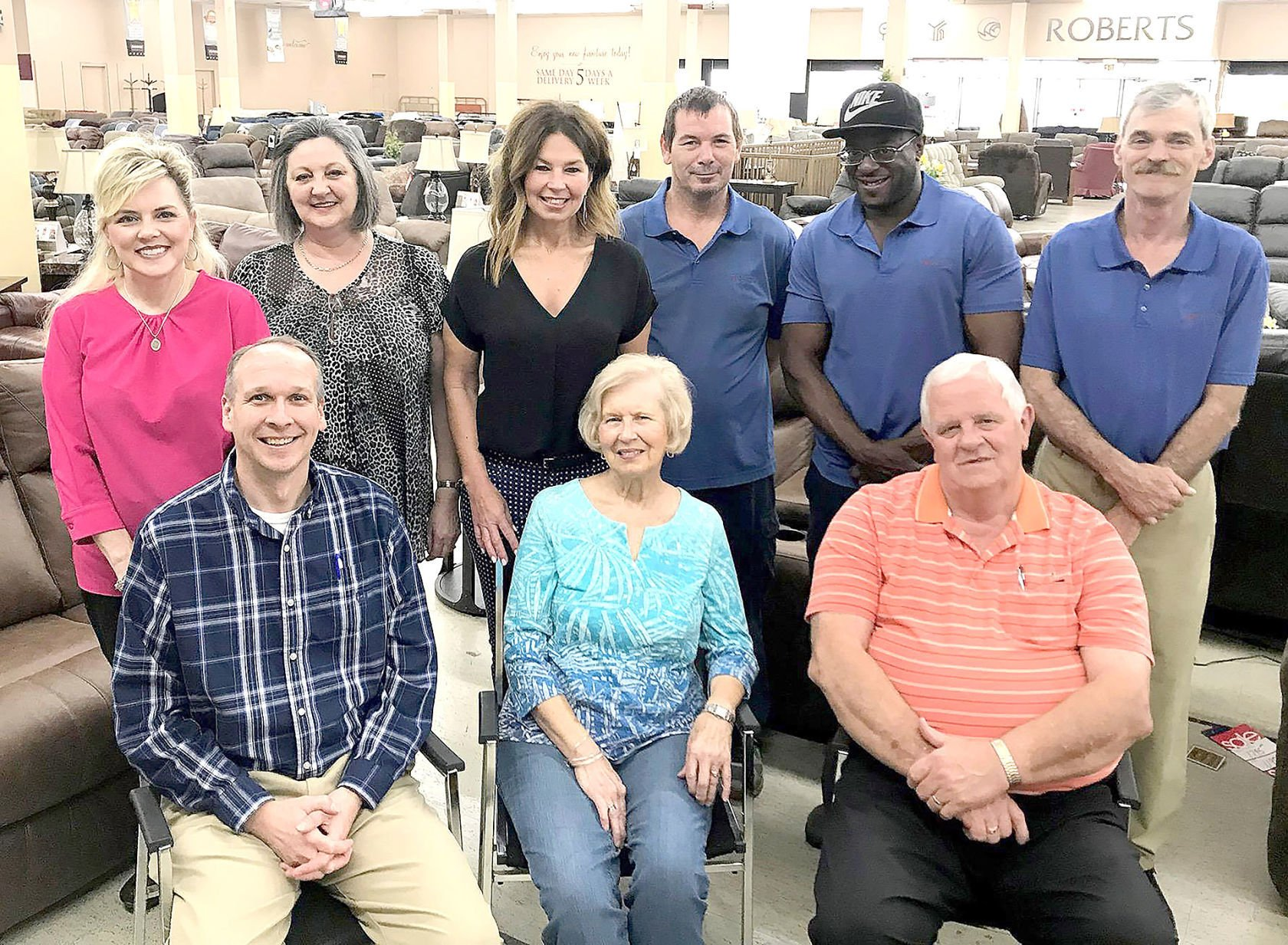 Members Of The Staff At Roberts Furniture U0026 Mattress Gallery Are Shown In  The Spacious Showroom Of The 40 Year Old Greeneville Store.