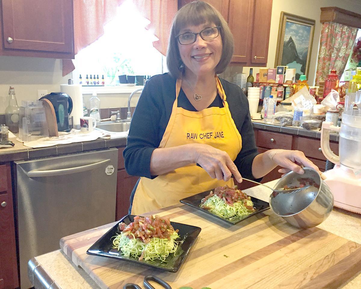 Jane Karuschkat Preparing A Meal