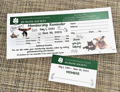 Membership Reminder and Card