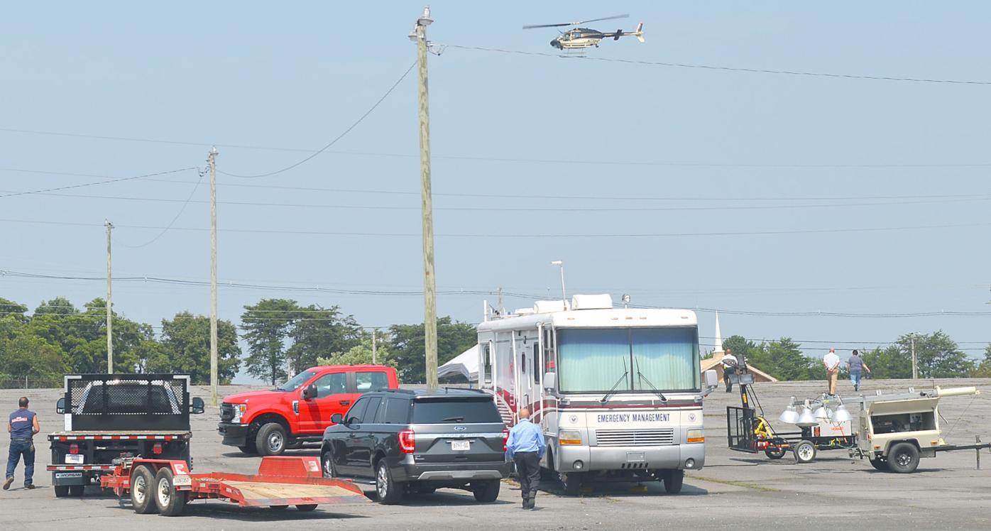Command Post Set Up During Hale Manhunt