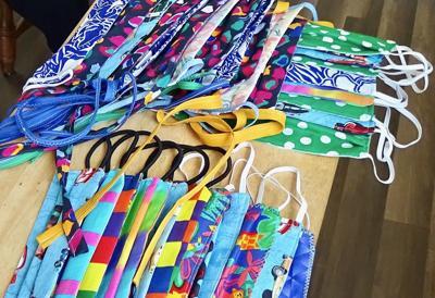 Masks made by Erin Schultz