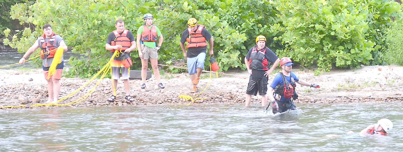 Rescuers Help 'Victim' During Drill