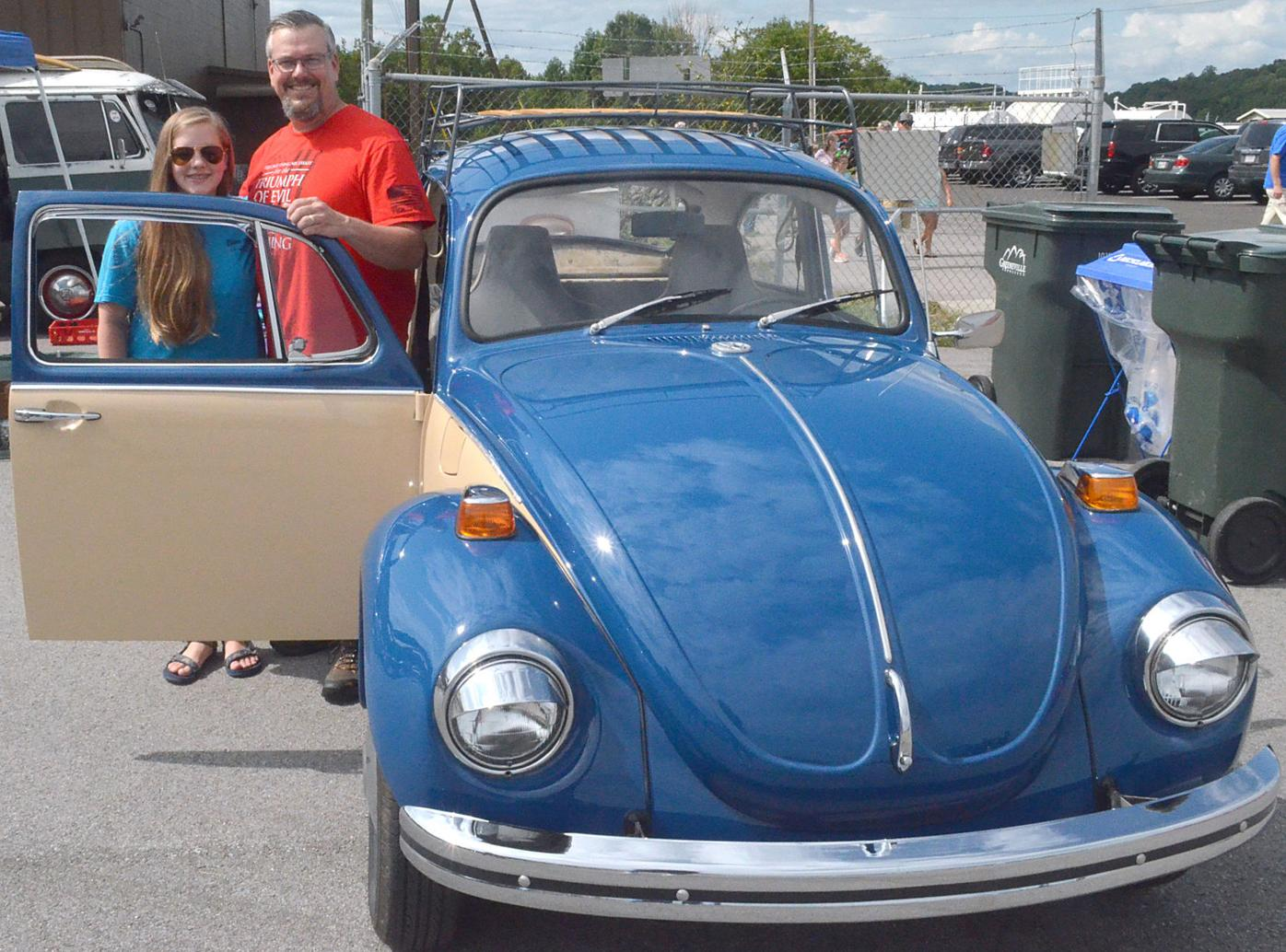Dad And Daughter With 1971 Bug