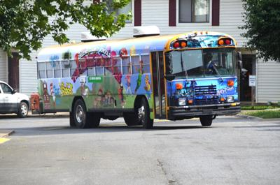 County Book Bus on the go
