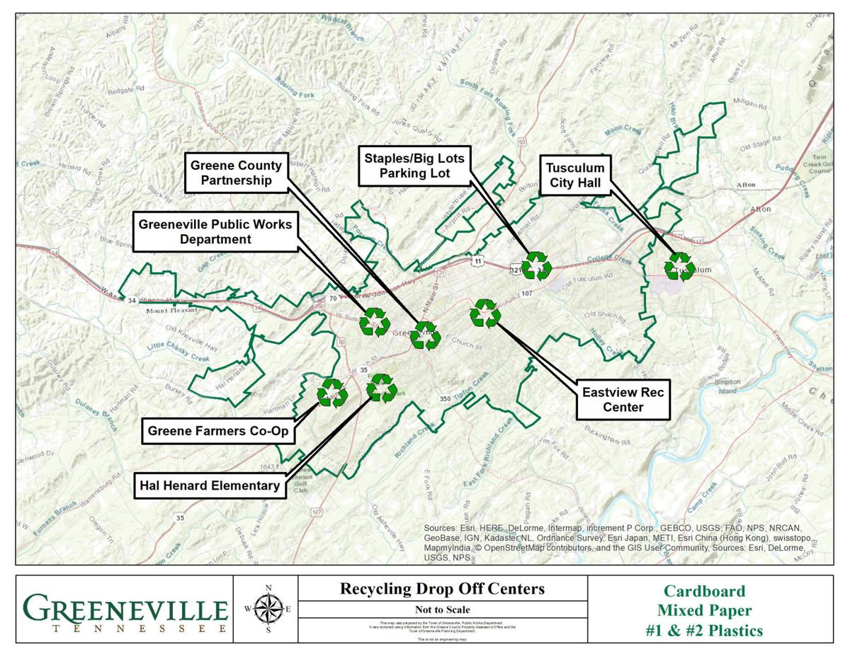 Map of Greeneville Recycling
