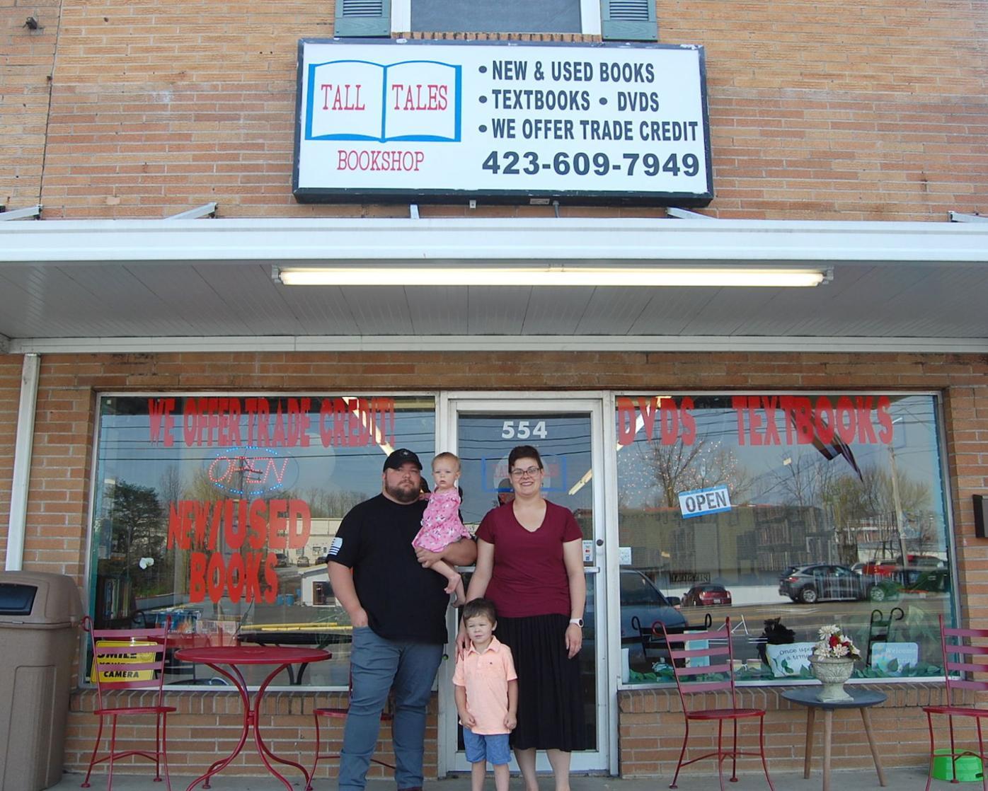Family Outside Store