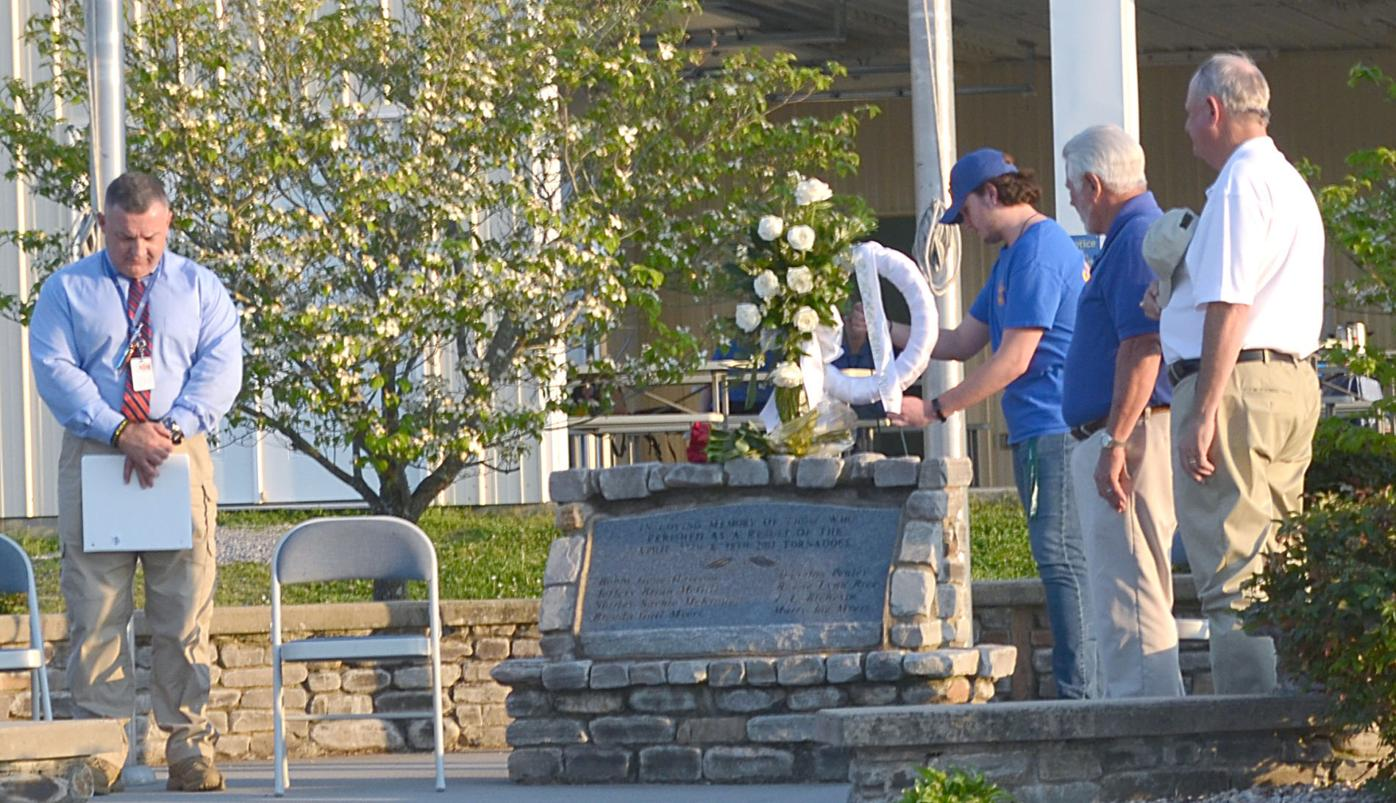 Youngest Ruritan Member Lays Wreath At Memorial