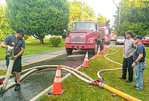 Placing Lengths Of Hose During Water Supply Drill