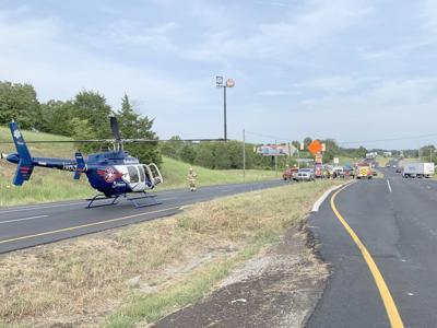 1 Airlifted From Mosheim Crash Scene