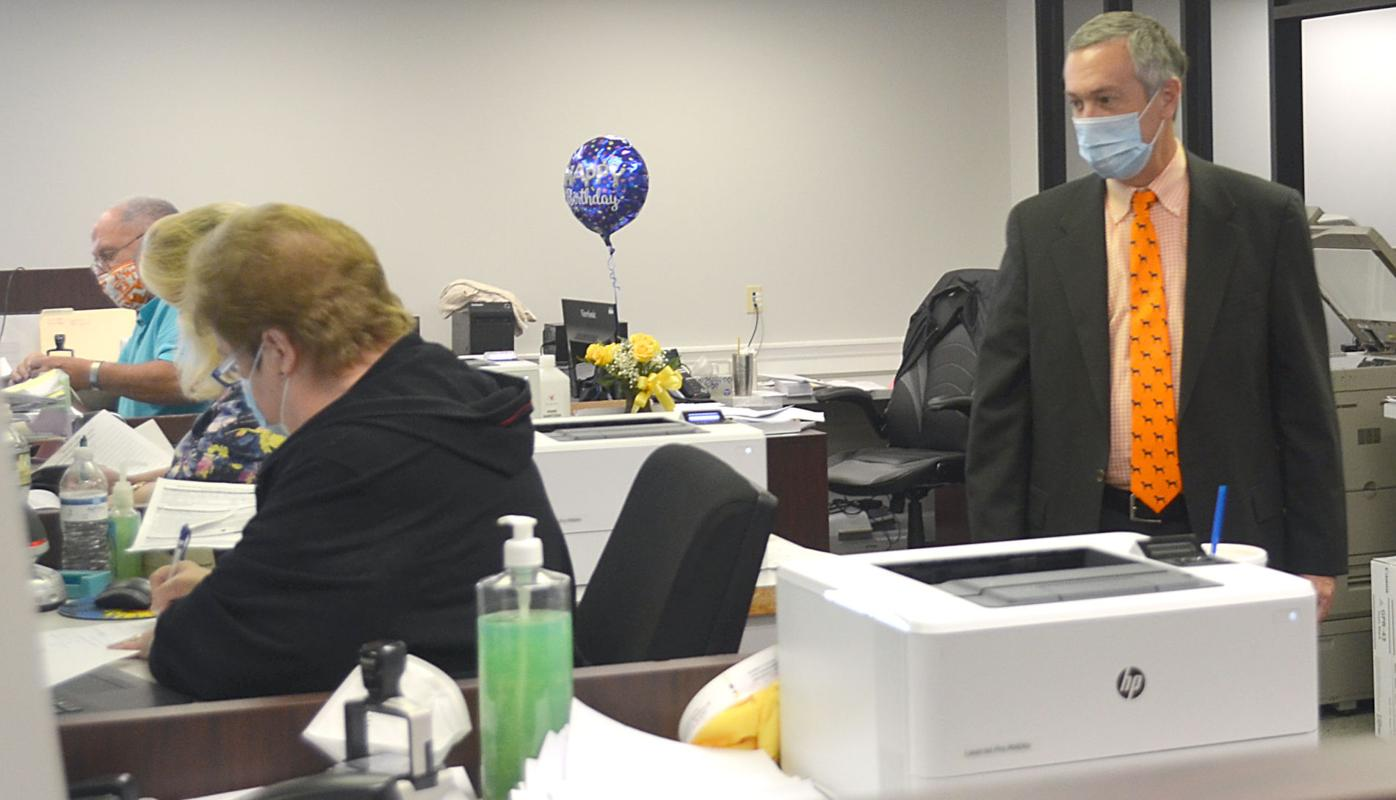 Tre Hargett Looks On At Greene County Election HQ