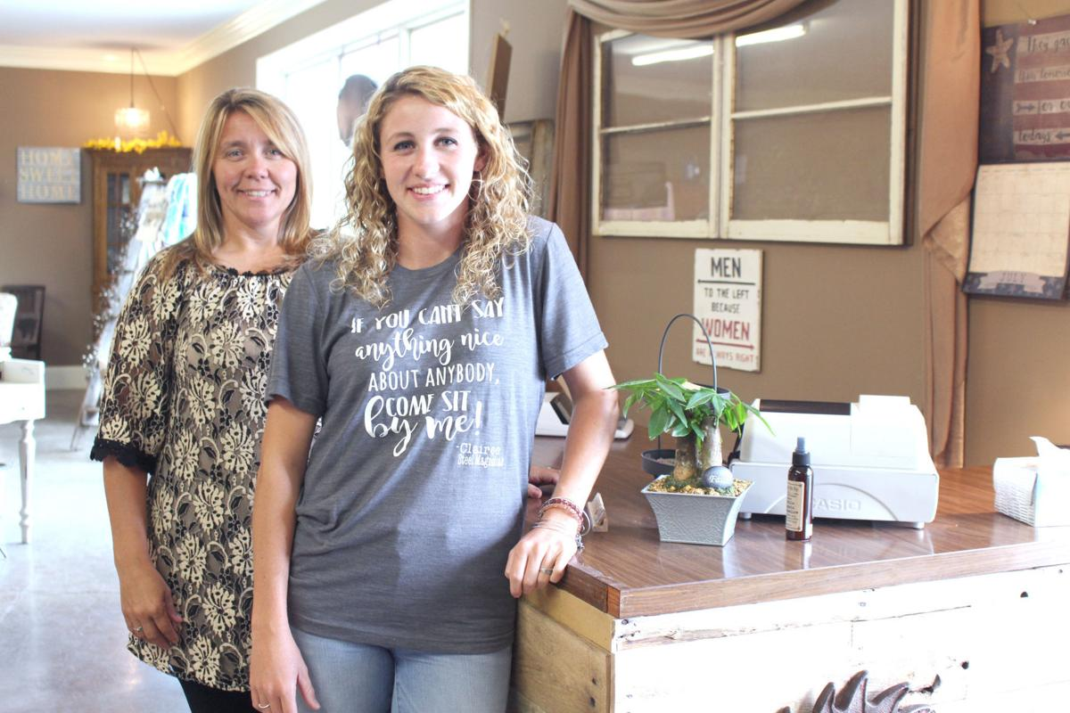 decor shop invites customers to make a home local business news co owners christy at left and kristen shelton run southern 44 decor more offering home decor and women s clothing