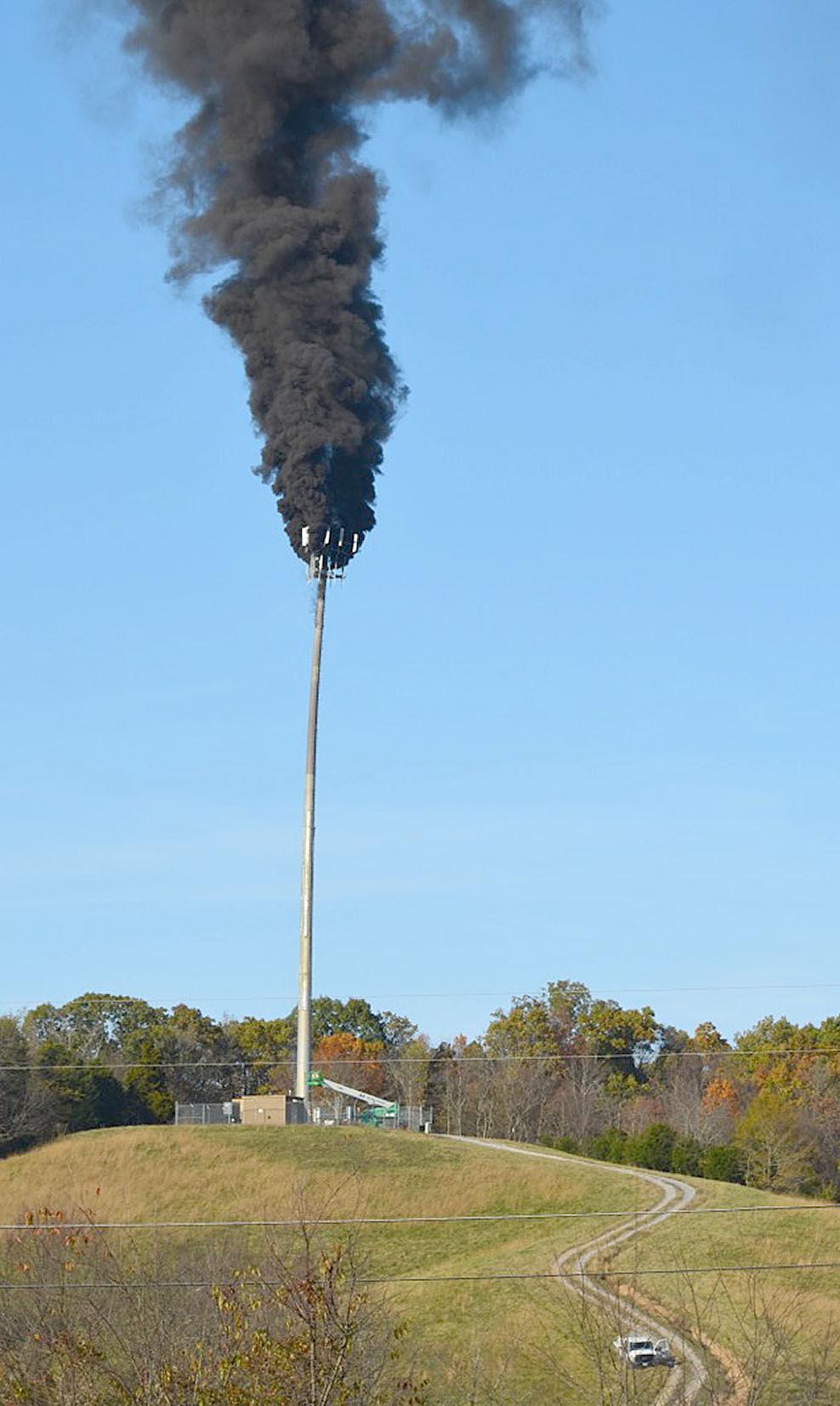 Flames Damage Verizon Wireless Tower Nitf
