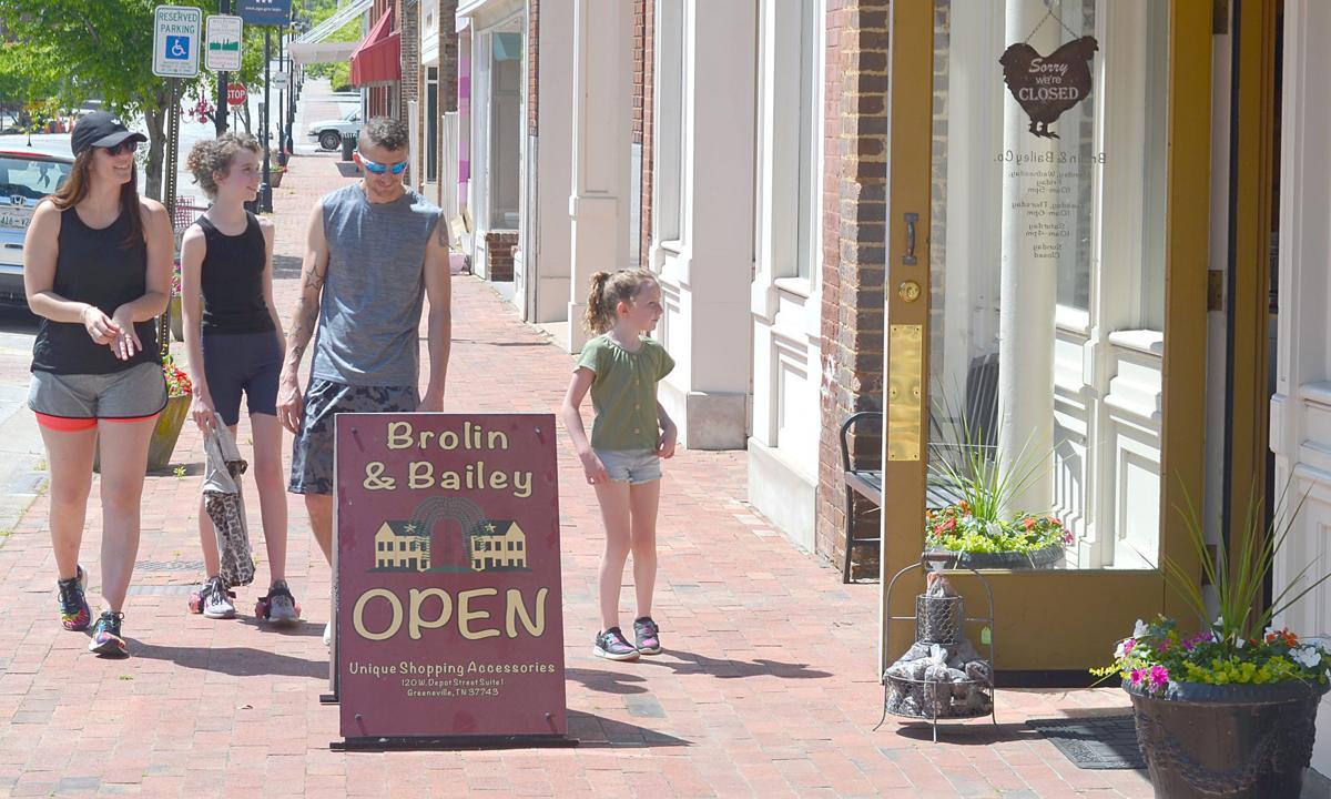 Family Walking On West Depot Street