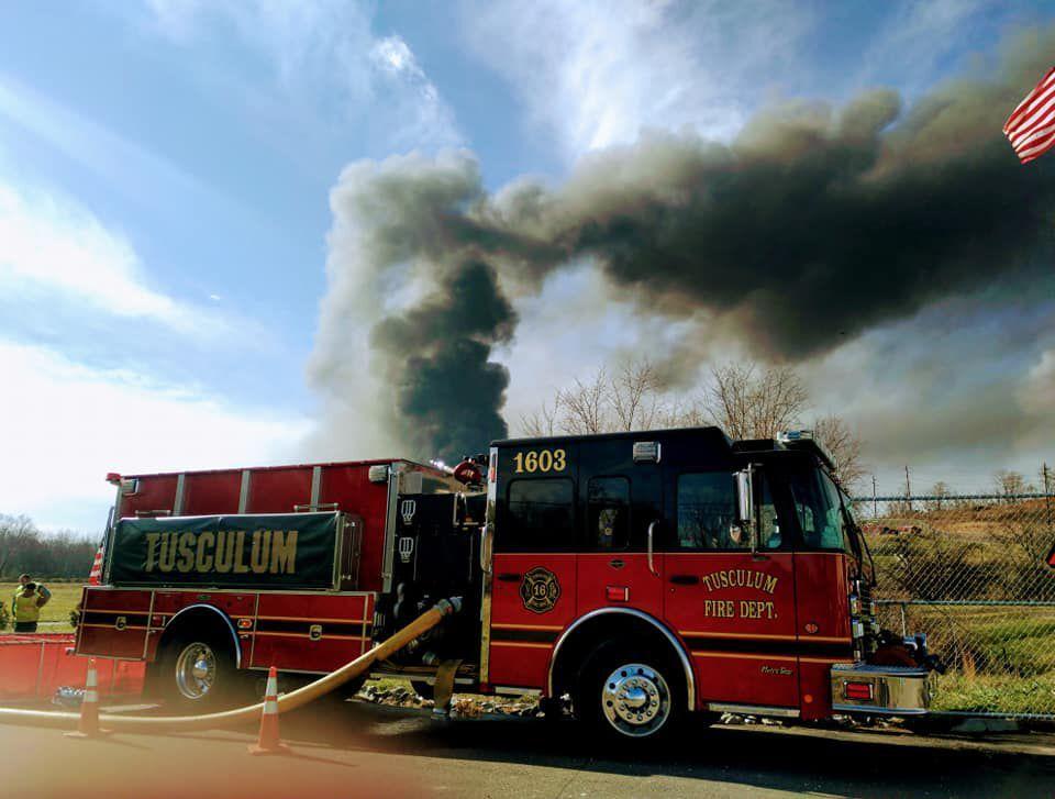 Tusculum Firefighters Assist At Hexpol Fire
