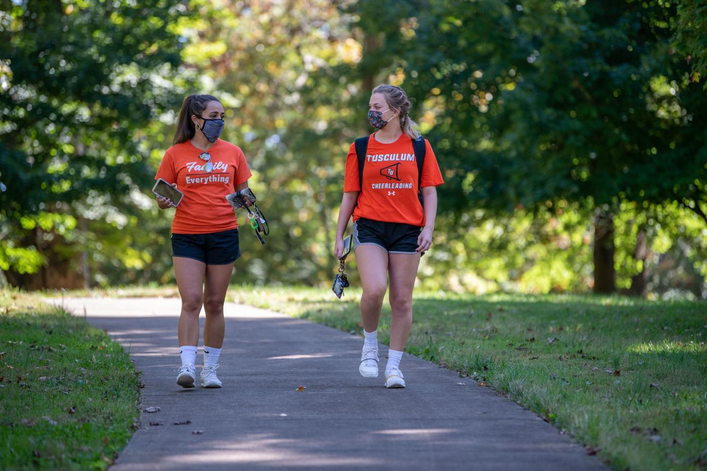two Tusculum students walking.jpg