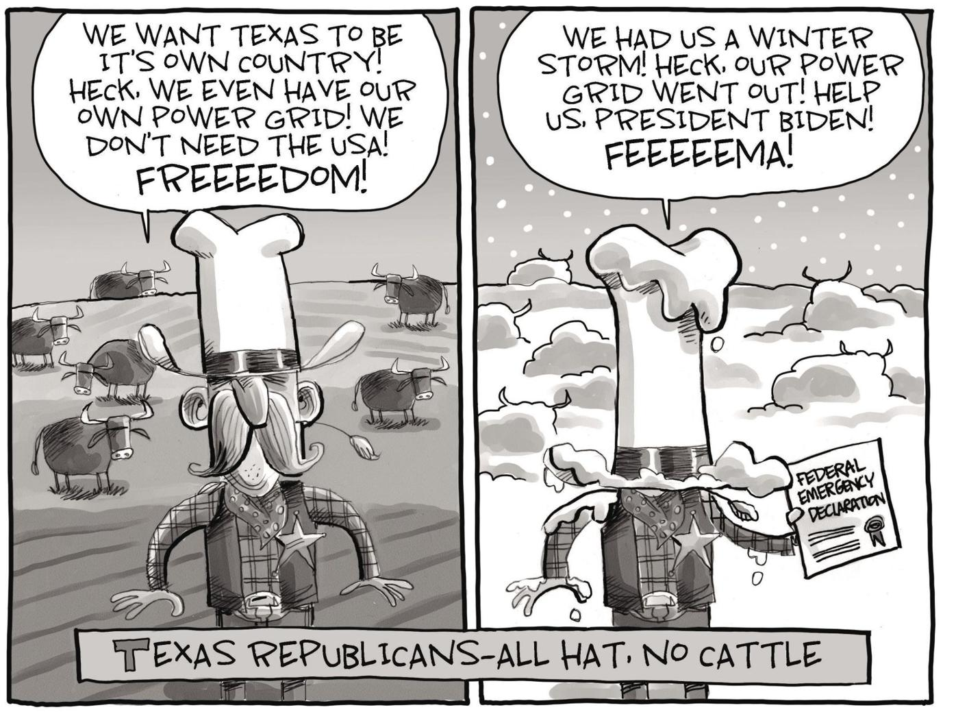 Image result for texas republicans weather cartoons