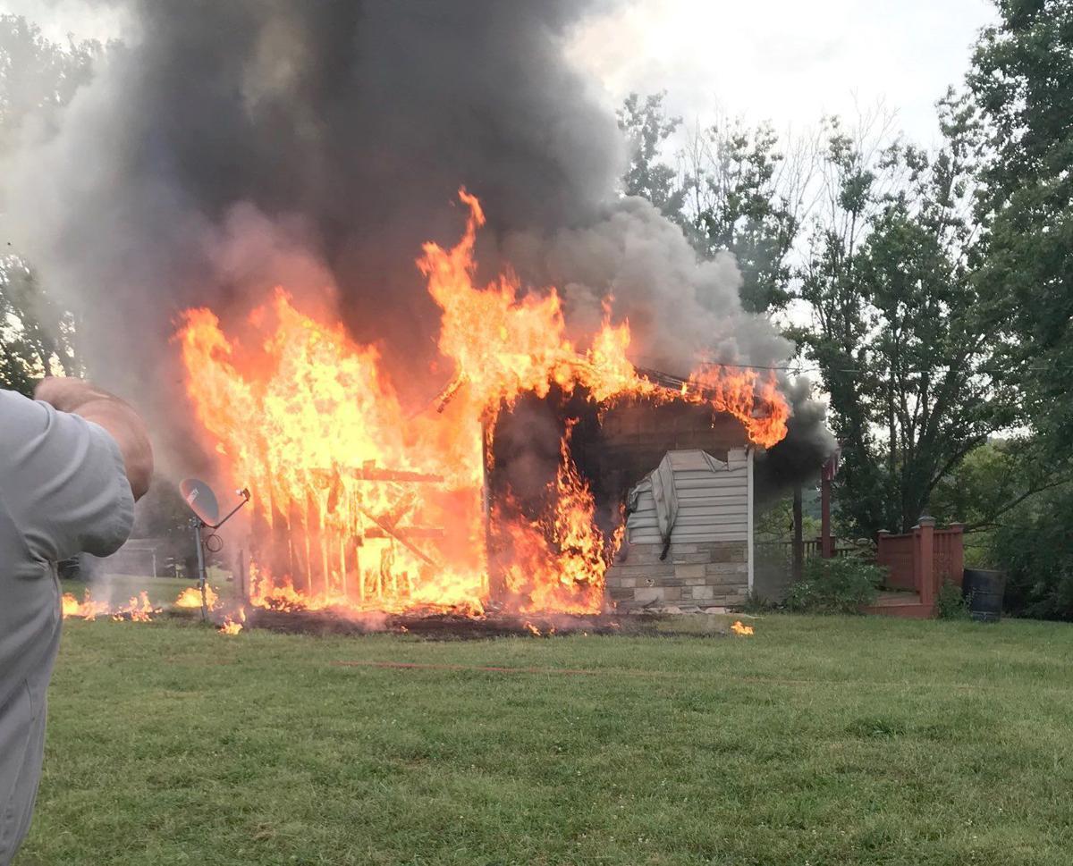 Glenwood Drive Fire Blazing