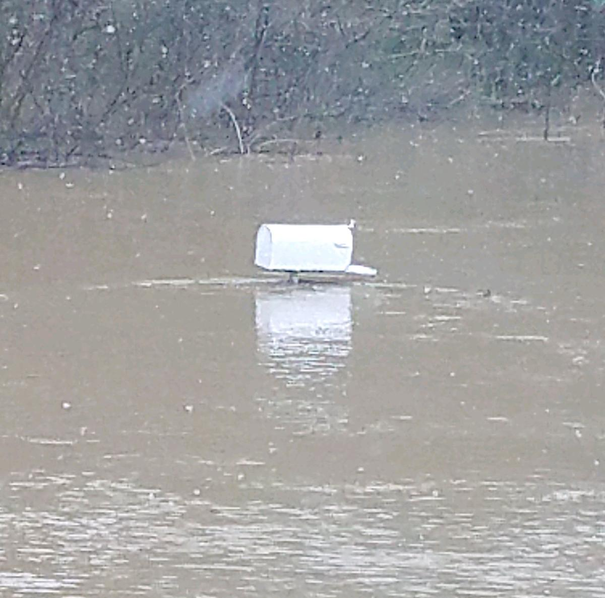 Mailbox Under Water On Poncho Road
