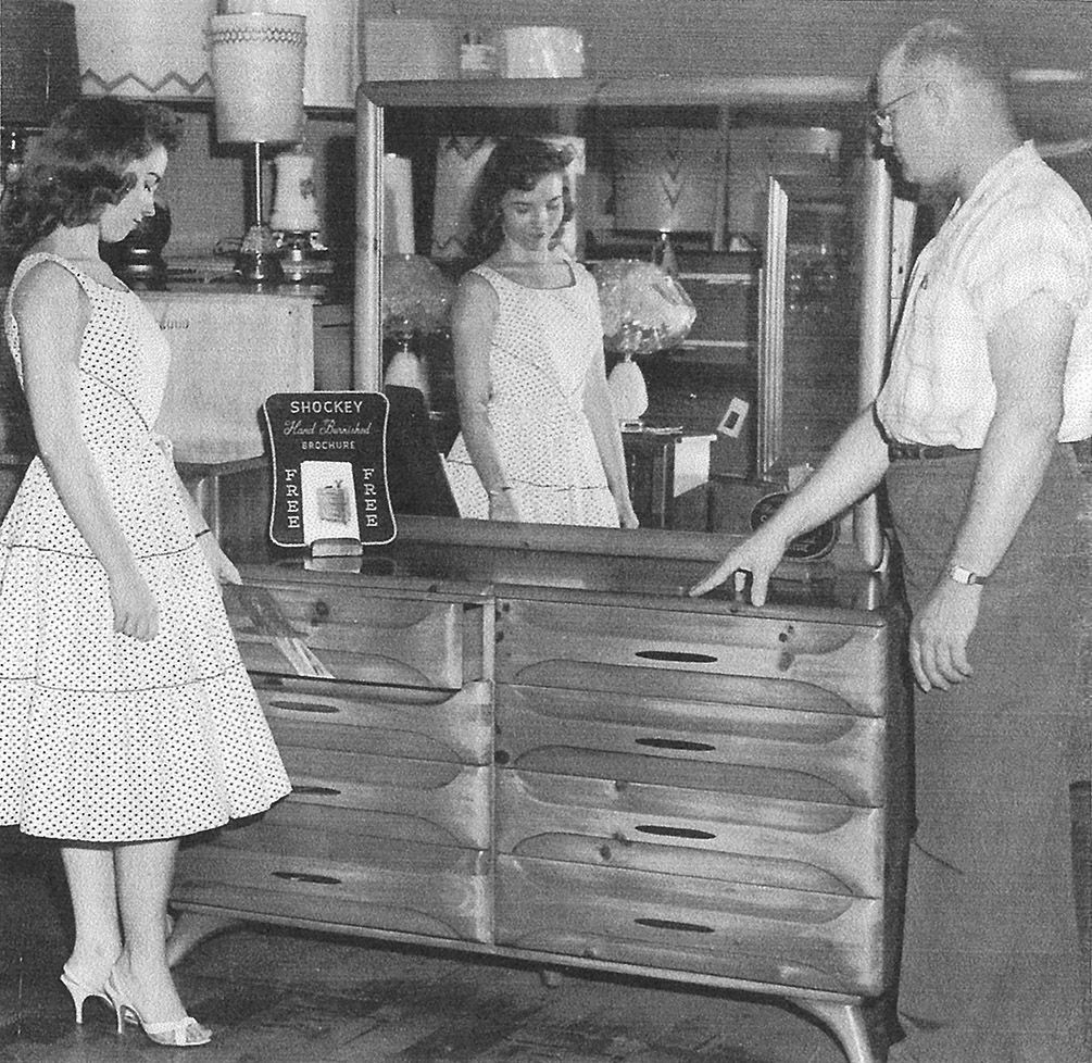 ... Ed Roberts, Right, Shows A Dresser To Nancy Boswell Of Greeneville, At  The Time A June Bride. Roberts Would Later Go On To Found Roberts Furniture.