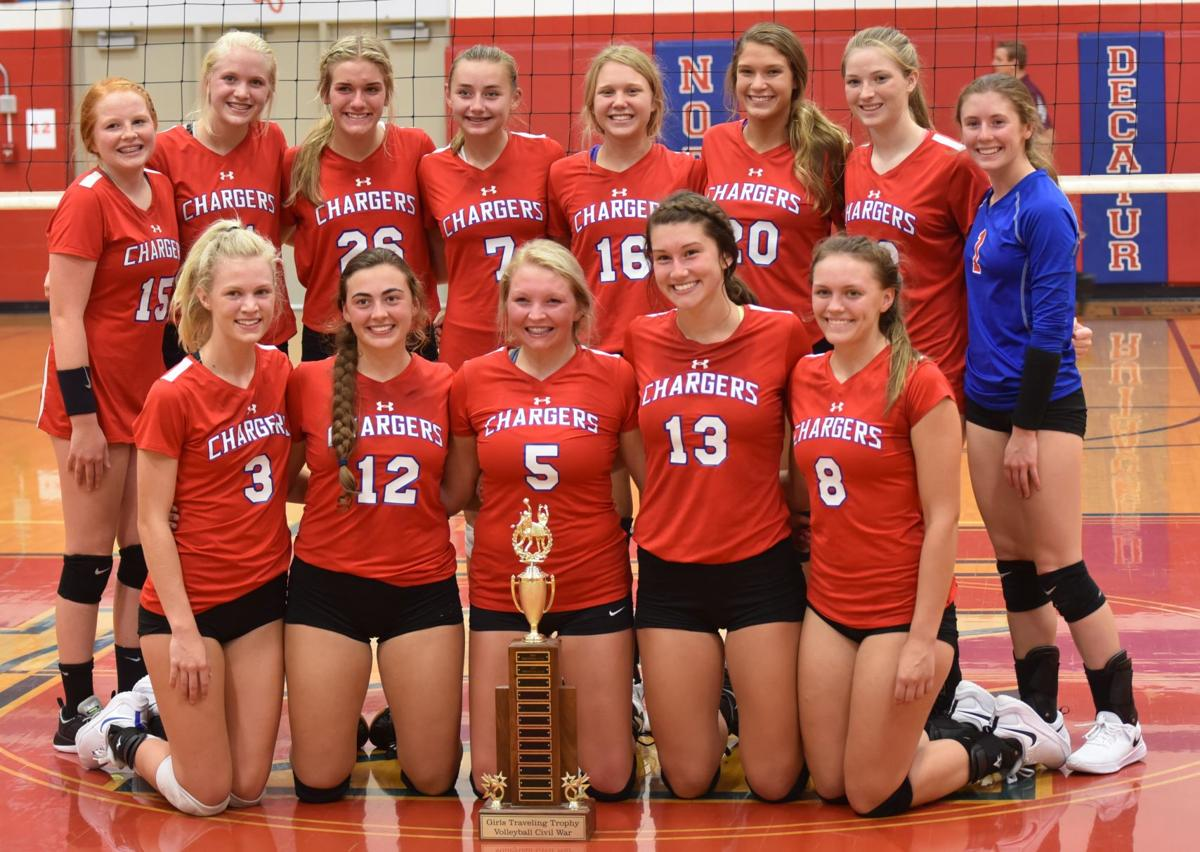 Lady Chargers volleyball Civil War trophy