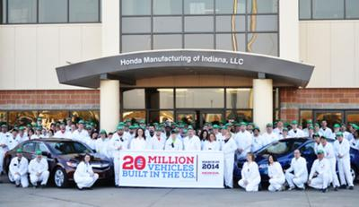 Honda Greensburg Indiana >> Honda Greensburg Celebrate Company Milestone Local News