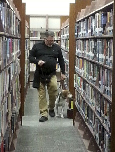 Library staff making sure bed bugs stay far away