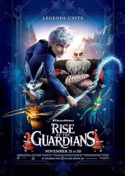 """""""Rise Of The Guardians"""" movie poster"""