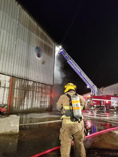 Emergency personnel responds to farm fire