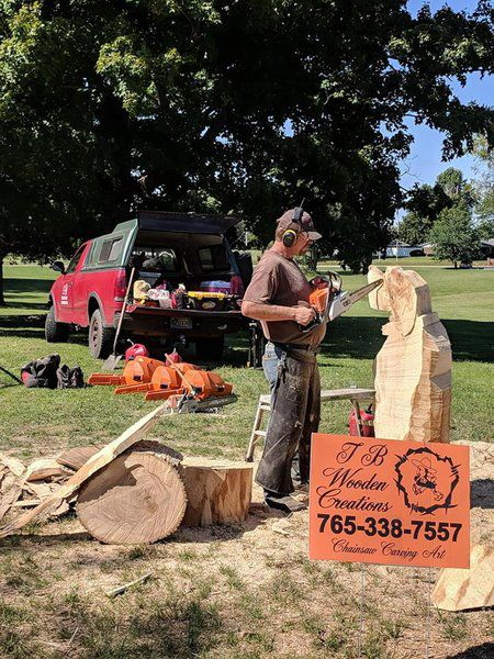 Chainsaw carving expands artistree district local news