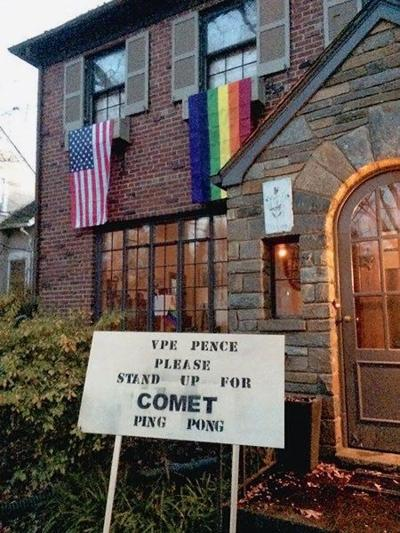 Pence's D.C. neighbors have a message for him