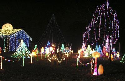 use existing landscaping for christmas decorations
