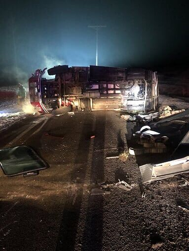 Fire truck crash reported in Ripley County