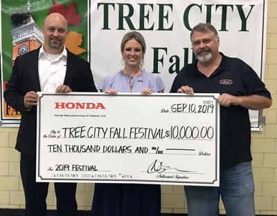 Honda donates $10,000 for Fall Festival