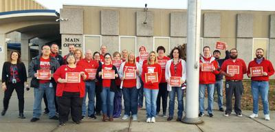 Local teachers show support for Red for Ed Action Day