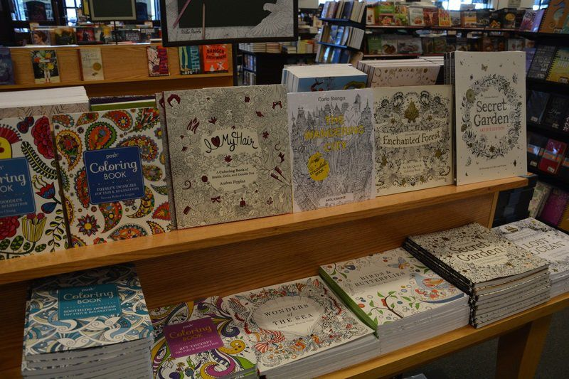 IN STOCK Barnes And Noble In Plainfield Stocks A Large Collection Of Adult Coloring Books Since Its Become Such Popular Activity