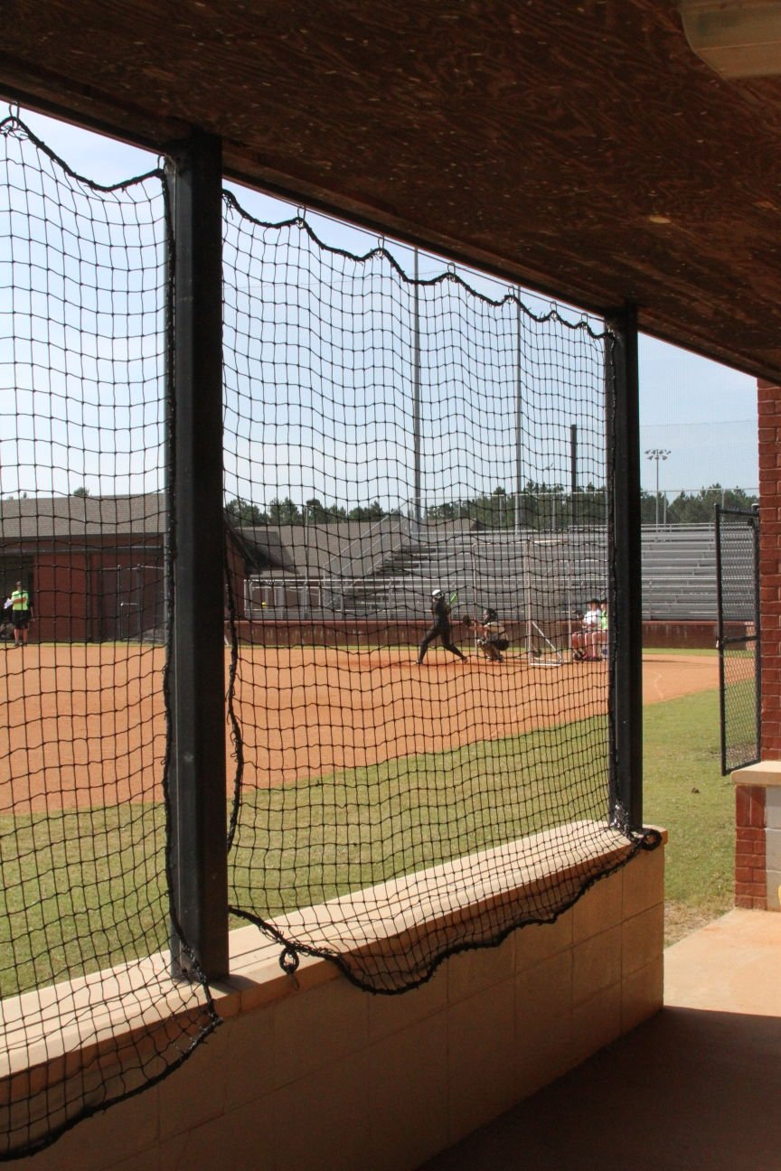 Netting at girls softball field in Moultrie