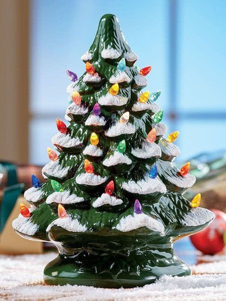 vintage ceramic christmas trees