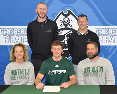 Lane signs with Huntington