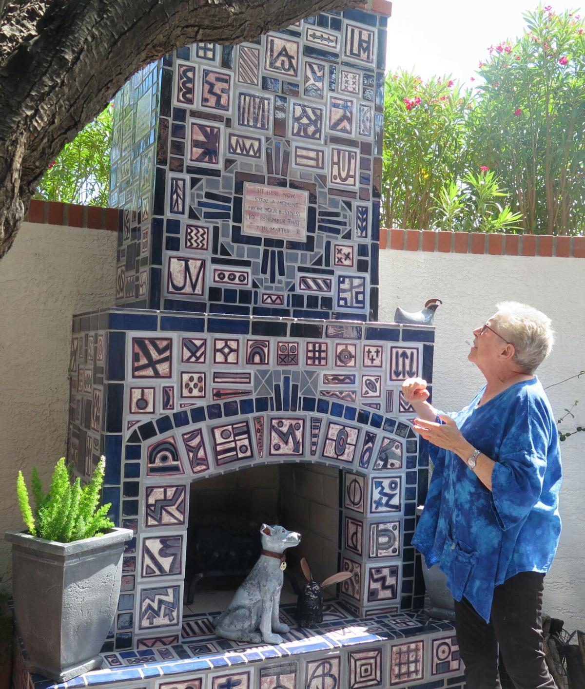 ONE-OF-A-KIND WONDER: Outdoor fireplace a true work of art