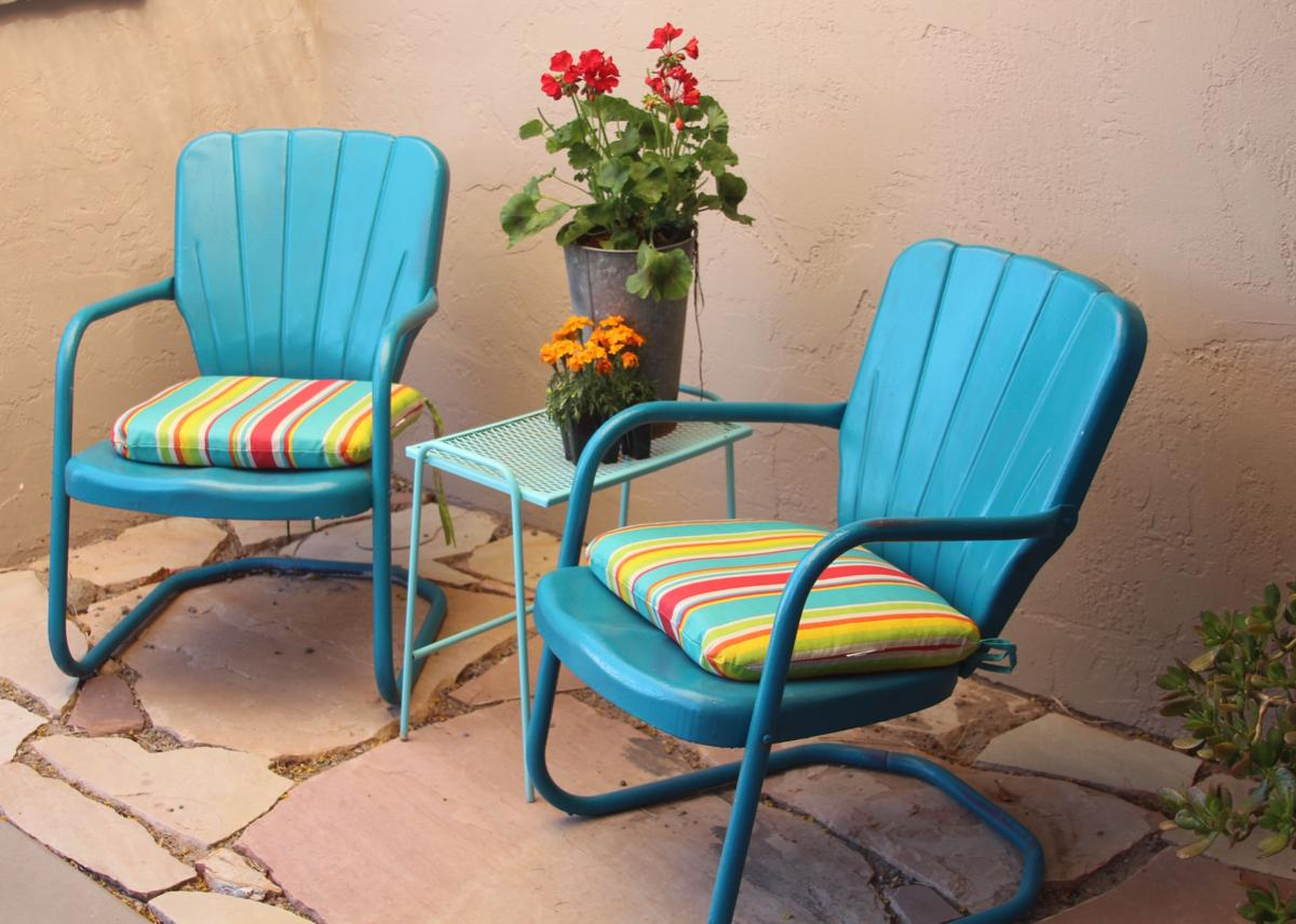 Metal Patio Chairs Redux Comeback For Iconic Style Get Out Gvnews Com