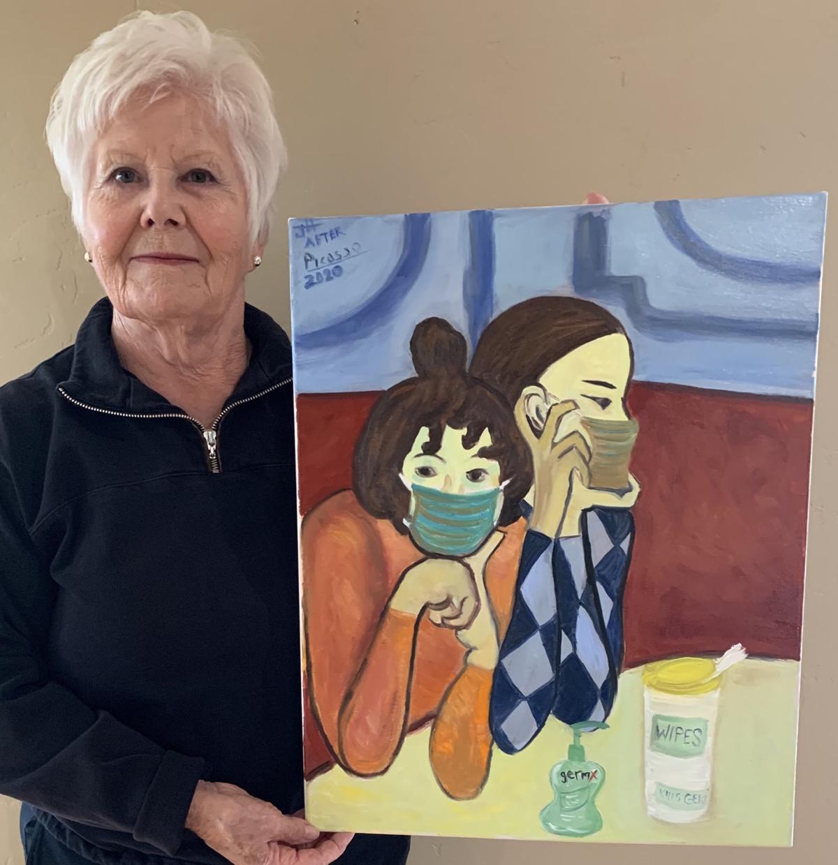 ART TO THE RESCUE!  Painters embrace Picasso challenge