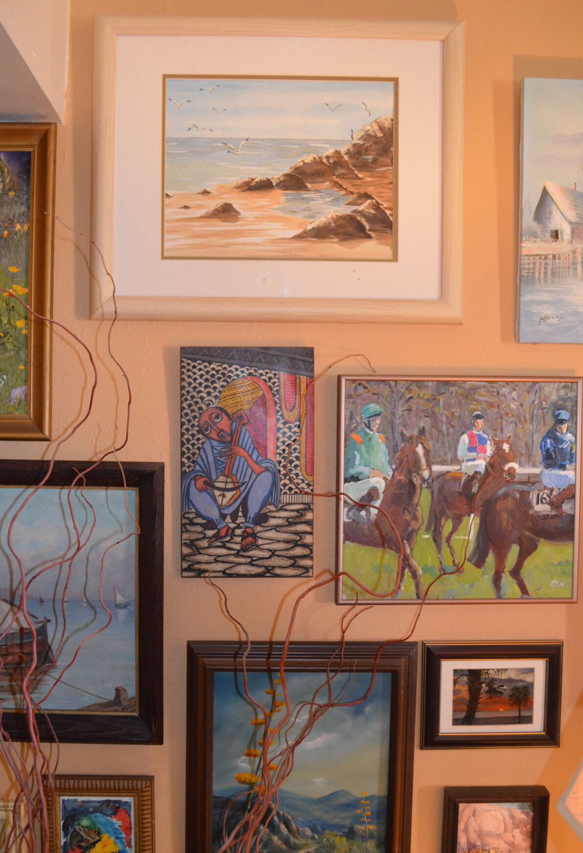 AN ARTISTIC SOUL: Inside a villa's art gallery